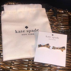 Kate Spade Gold Bow Earrings (+ dust bag)